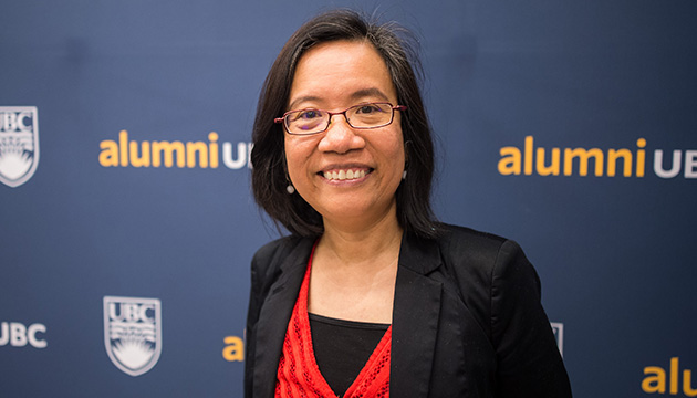 UBC academic Leonora Angeles  in an evening with changemakers