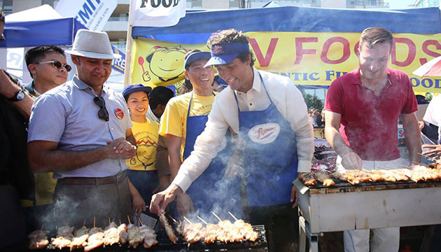 Prime Minister Justin Trudeau attends Taste of Manila street festival in Toronto