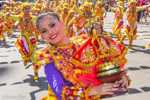 Dancers celebrating Senor Sto. Nino during the annual Sinulog Festival in Cebu. Photo by Stuart Dee.