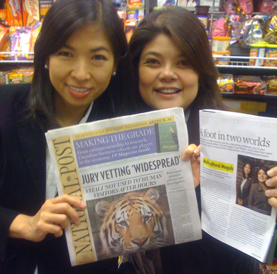 Anna and Marvi with National Post
