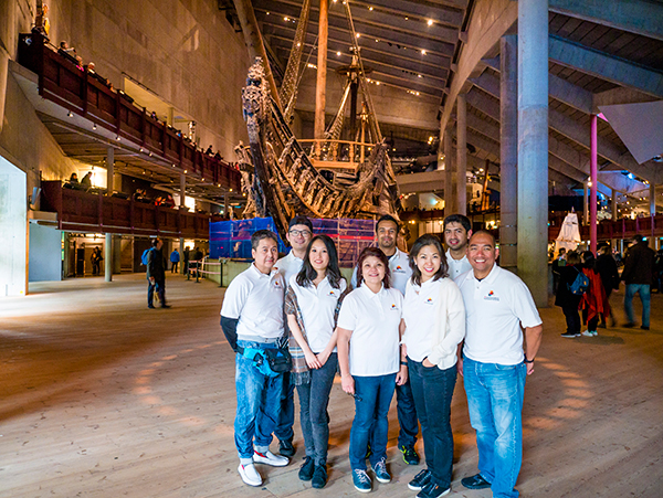 Team AV at the renowned Vasa Museum in Stockholm, Sweden
