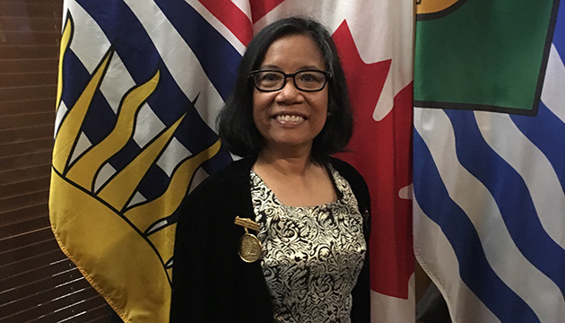 Canadian Filipina Professor Nora Angeles receives Vancouver's Civic Merit Award