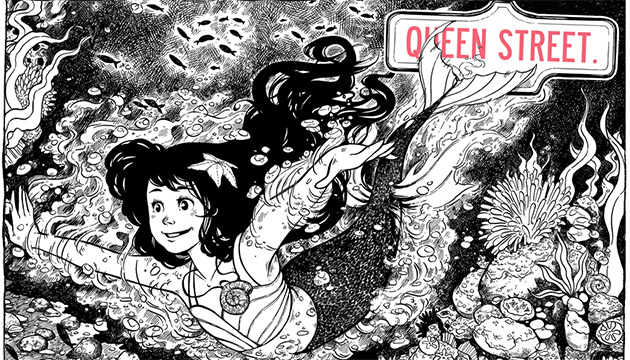 The graphic novel Queen Street has been inspired by the story of the artist's mother, a Filipina immigrant to Canada.